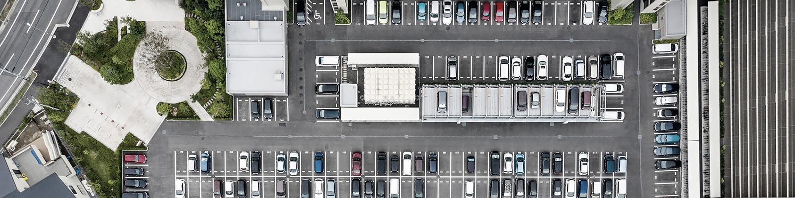 都市 自動車 ドローン 空撮 イメージ