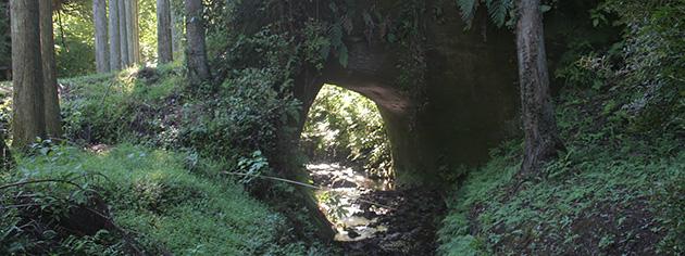 千葉県市原市の短い川トンネル。トンネルというより門のようだ。こういう瞬間トンネルを「ちょい廻し」と私は呼んでいる。