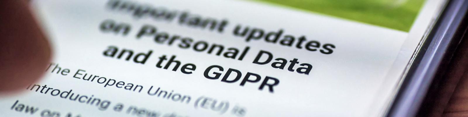 GDPR Webサイト スマートフォン イメージ