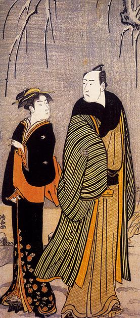 図11──喜多川歌麿〈相合傘〉1798。