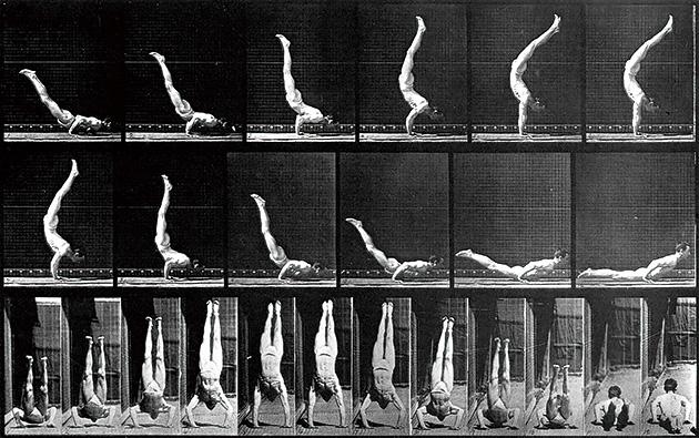 図14──マイブリッジの連続写真。(『Le Temps D'un Mounement: Aventures et Mesaventures de L'instant Photographique』Centre National de la Photographie、1986)