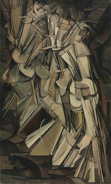 図16──マルセル・デュシャン〈階段を降りる裸体No.2〉1912。(「Marcel Duchamp」wikipedia)