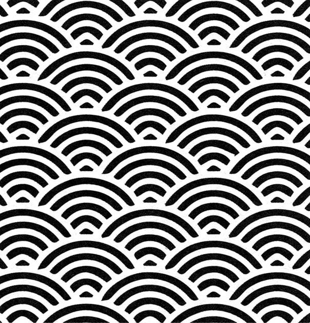 図20〜25──青海波、霞、雨、さざ波、観世水、露芝。(『日本の装飾と文様』海野弘(解説・監修)、パイ インターナショナル、2018)