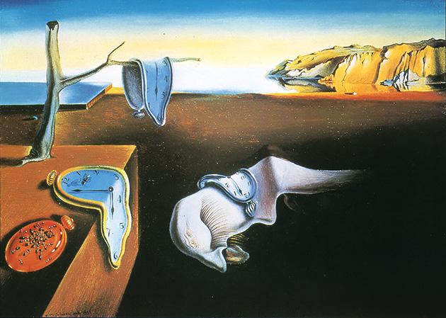図8──サルバドール・ダリ〈記憶の固執〉1931。(『アート・ギャラリー 現代世界の美術18 ダリ』岡田隆彦(責任編集)、集英社、1986)