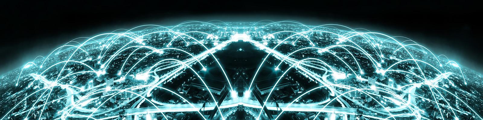 ネットワーク 電力 都市 イメージ