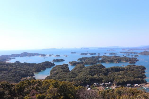 風光明媚な俵ヶ浦半島からの景色
