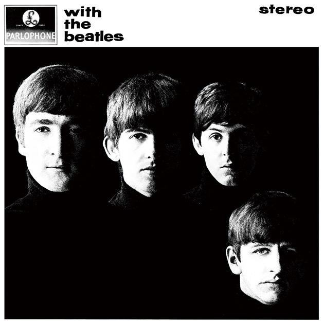 図7──顔だけが浮かび上がっているザ・ビートルズ『ウィズ・ザ・ビートルズ』のジャケット、1963。