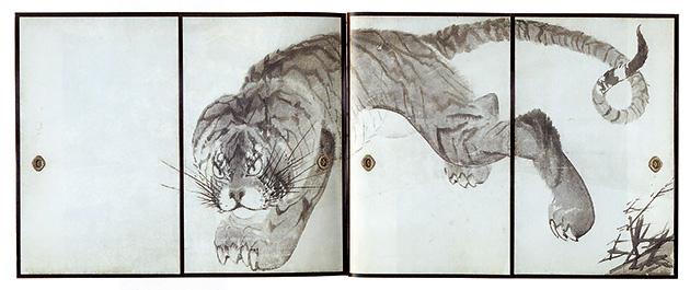 図19──長澤蘆雪〈虎図襖絵〉18世紀末。無量寺蔵。