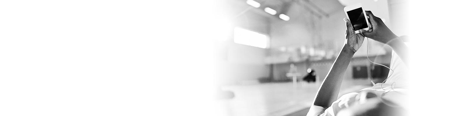 バスケット スマートフォン イメージ