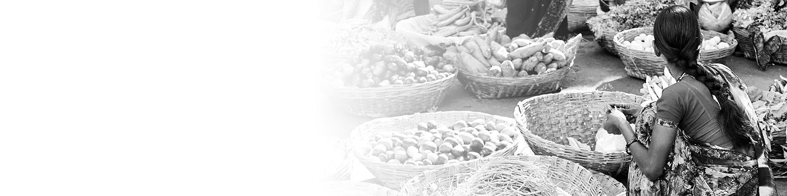 インド マーケット 食文化 イメージ