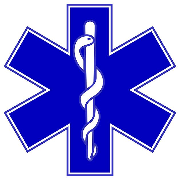 図11──救急マーク。(「スター・オブ・ライフ」wikipedia)