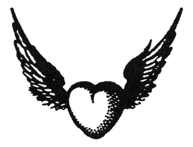 図2──羽根の生えたハート。(『ハート(心臓)大全』ルイザ・ヤング、別宮貞徳(訳)、東洋書林、2005)