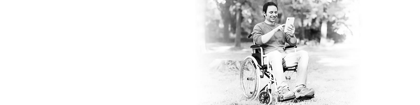 車椅子 モバイル 公園 イメージ