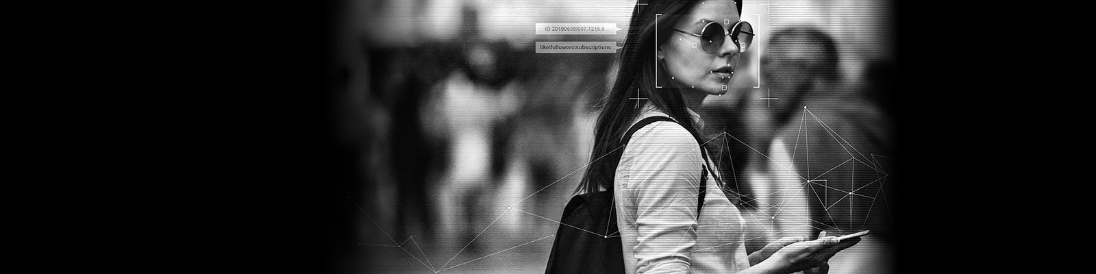 市民 監視 顔認識 イメージ