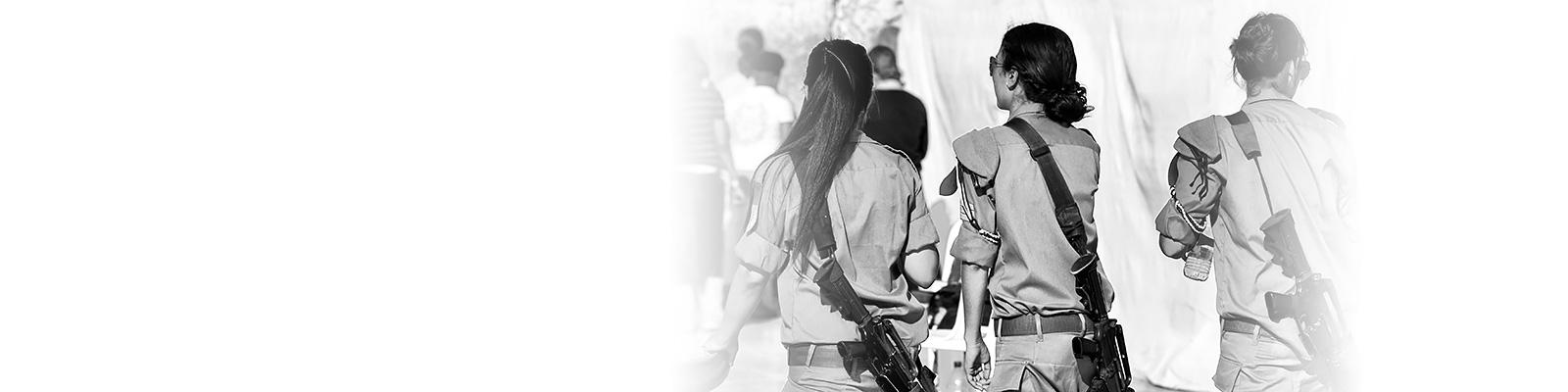 イスラエル 女性 兵士 イメージ
