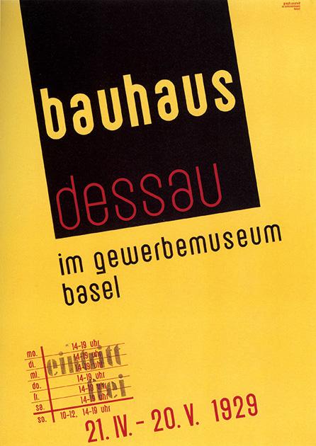 図10──バーゼル産業博物館で開催された「デッサウ・バウハウス」展ポスター、1929。(『バウハウス1919-1933』セゾン美術館(編)、セゾン美術館、1995)