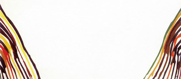 図17──モーリス・ルイスのアンファールド・シリーズ〈アルファ・タウ〉1960〜61。(『なぜ脳はアートがわかるのか』エリック・R・カンデル、高橋洋(訳)、青土社、2019)