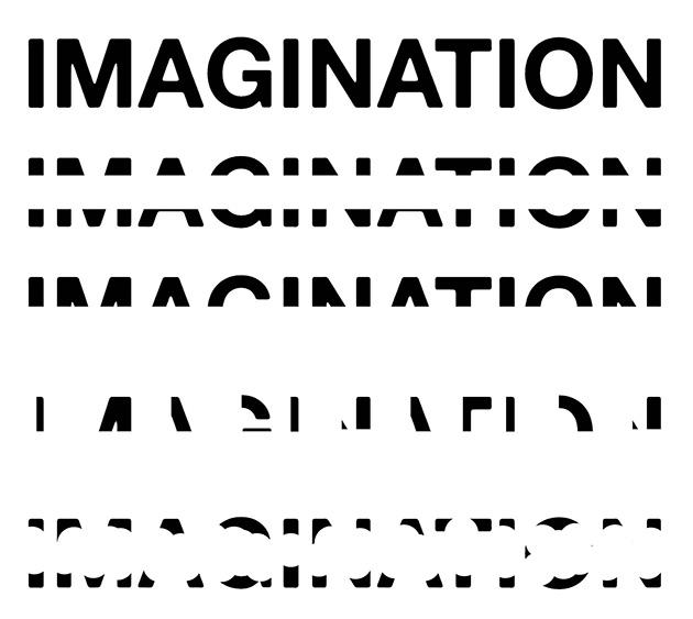 図21-1──「IMAGINATION」のアルファベットをいろいろと隠して判別できるか試したもの。