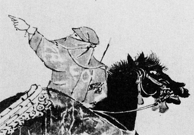 図4-1〜-3──『慕婦絵詞』(14世紀ごろ)に描かれた蓑がさ、覆面姿。(『異形の王権』網野善彦、平凡社ライブラリー、1993)