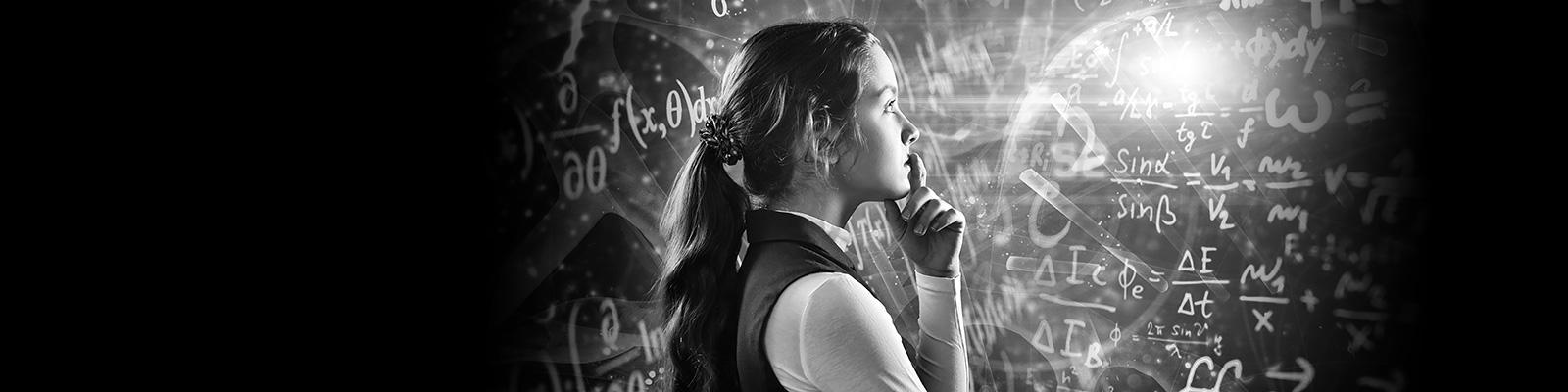 数学 神秘 女性 イメージ