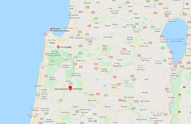 キブツダリアの地図