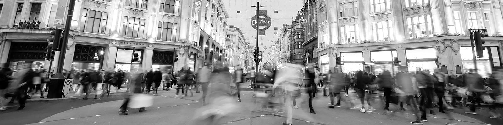 ロンドン クリスマス 人々 イメージ