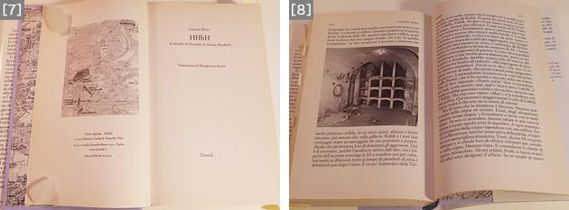 [7]Einaudi社のイタリア語訳版より。[8]Einaudi社のイタリア語訳版より。教会の地下納骨堂の内部。