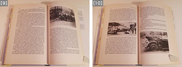 [9]Einaudi社のイタリア語訳版より。消防のホースが地下納骨堂の採光窓に差し込まれている。[10]Einaudi社のイタリア語訳版では、クライマックスの襲撃の場面にも、当時の写真が添えられている。こういった図版があるのとないのとでは、小説を読む体験はだいぶ違うのではないか。