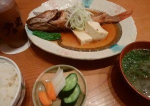 煮魚とご飯セット