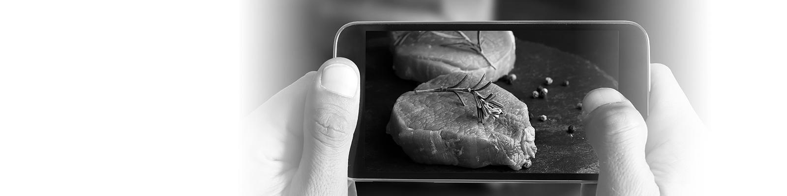 肉 スマートフォン イメージ