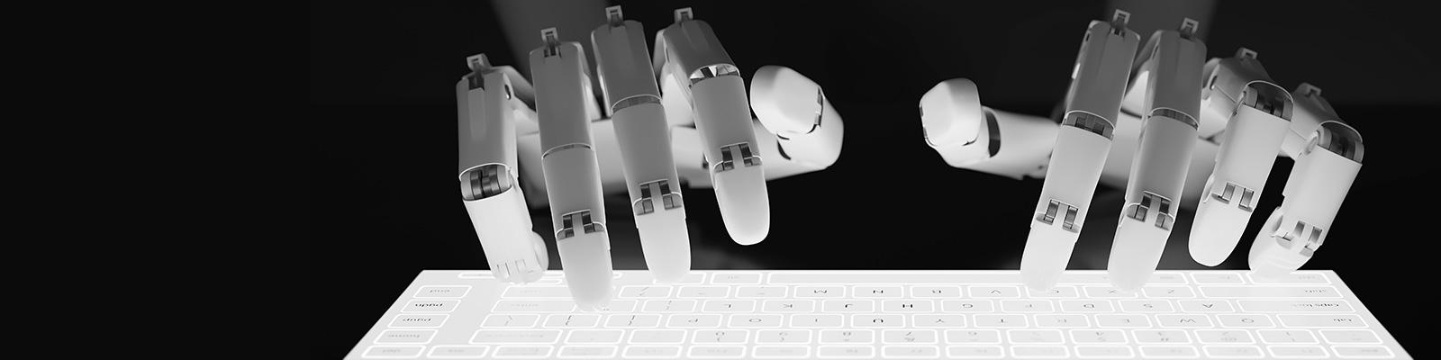 AI キーボード ロボット イメージ