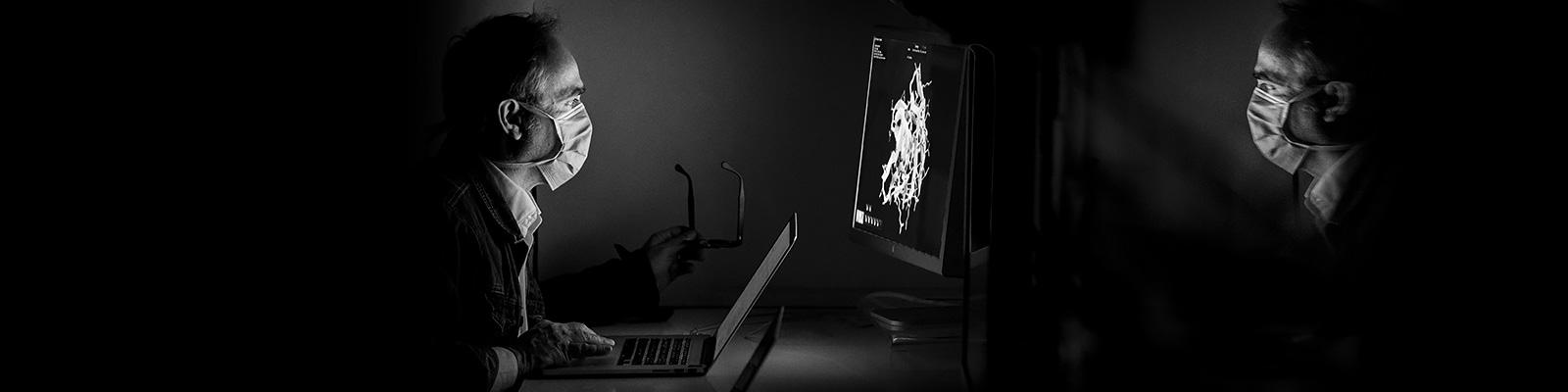 ウイルス サイバー攻撃 マスク イメージ
