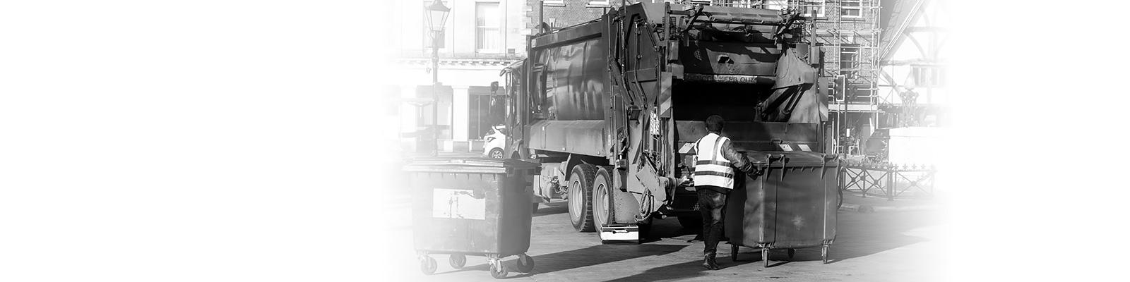 英国 ゴミ箱 ゴミ収集 イメージ