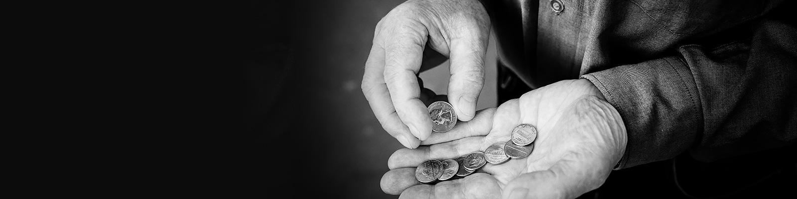 米国 コイン 貧困 イメージ