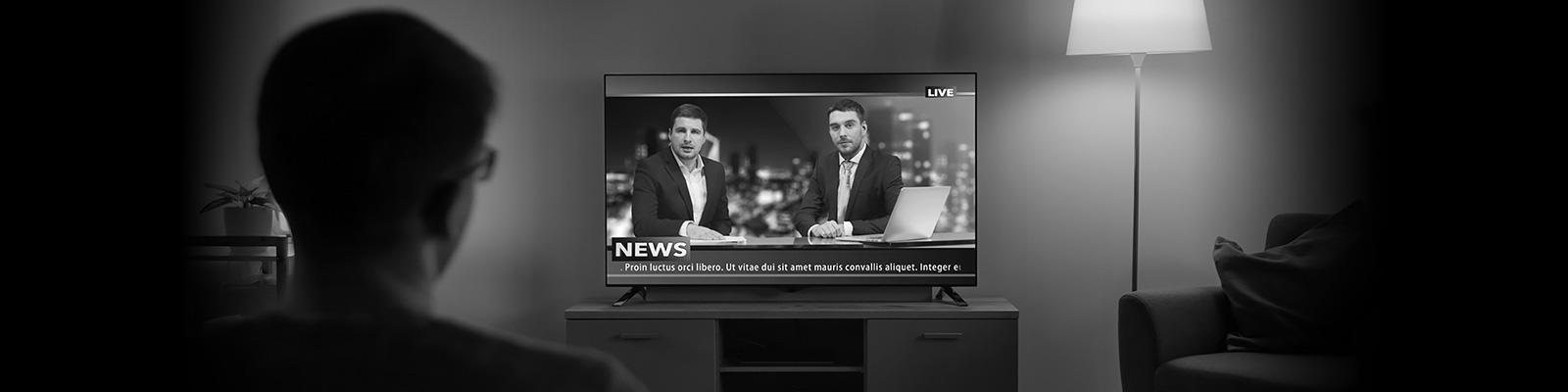 テレビ ニュース 視聴 イメージ
