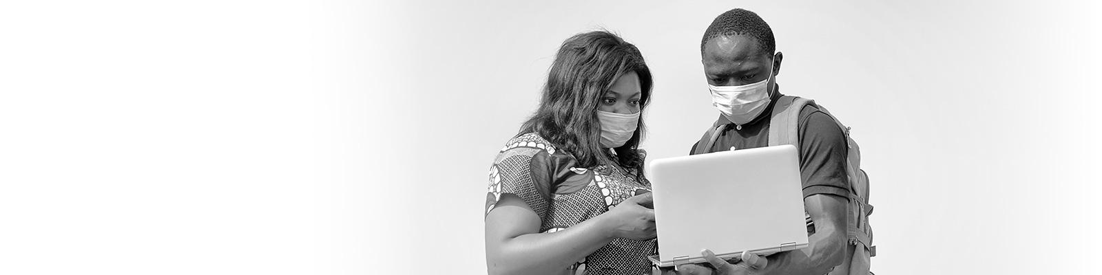 アフリカ オンライン マスク 医療 イメージ