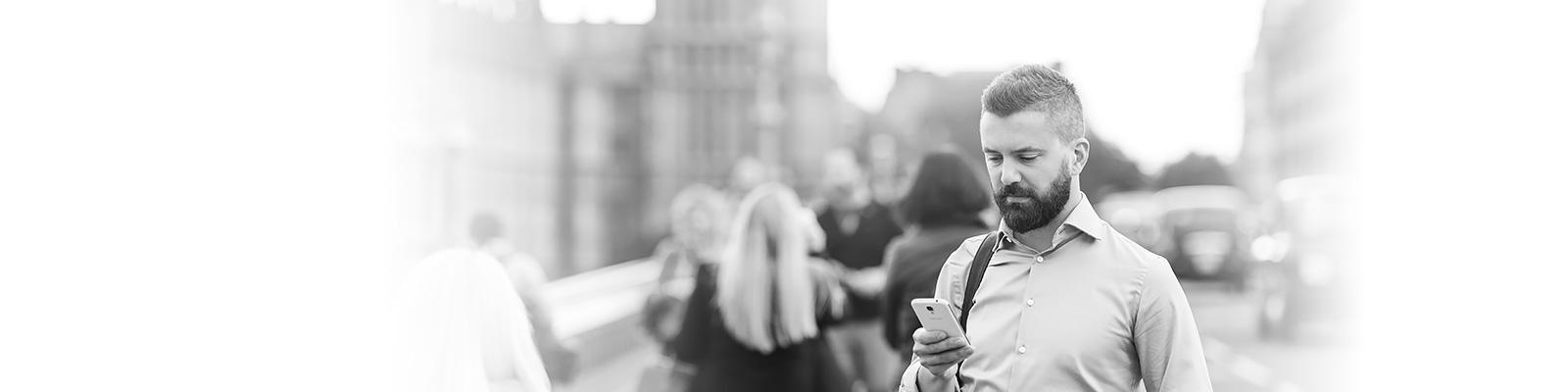 ロンドン ビジネスマン DX イメージ
