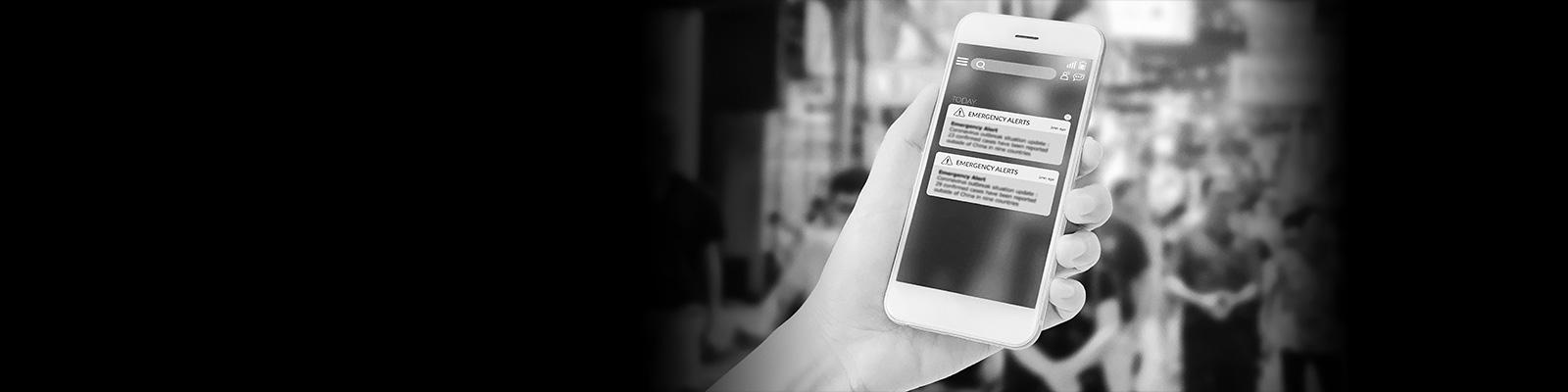 スマートフォン 中国 警告 イメージ
