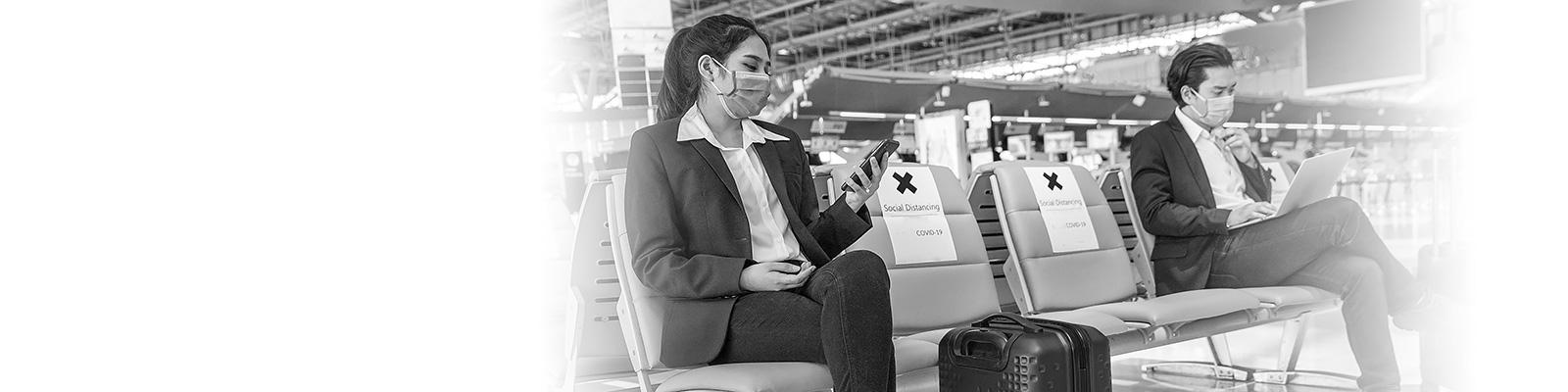 空港 コロナ スマートフォン イメージ