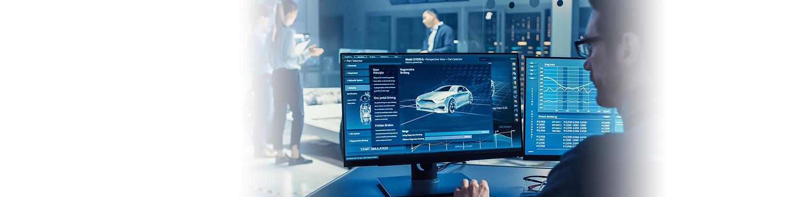 製造 自動車 コンピューティング イメージ