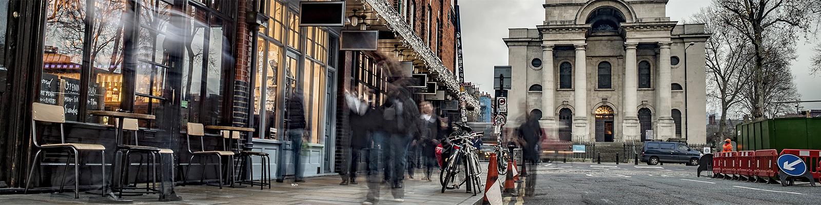 ロンドン スピタルフィールズ 人々 イメージ