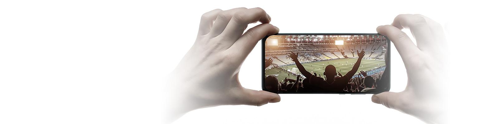 スマートフォン スポーツ 映像 イメージ