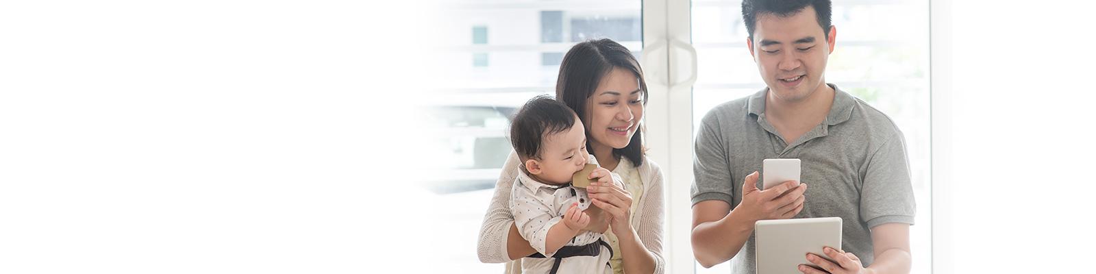 中国 デジタル 家族 イメージ