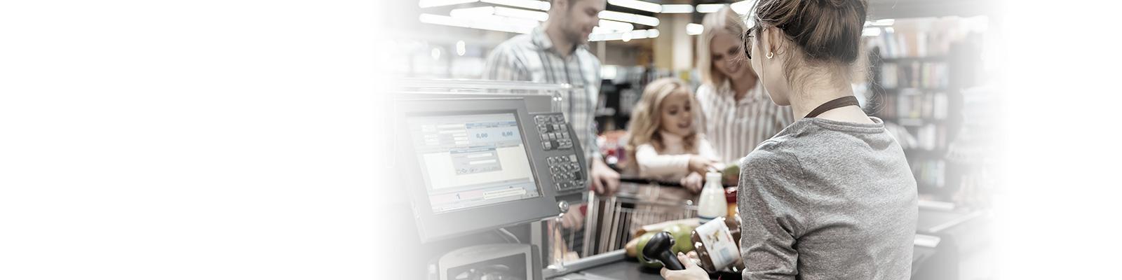 スーパーマーケット レジ 決済 イメージ